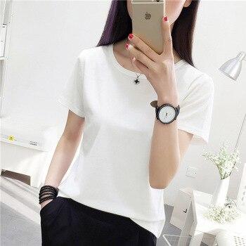 Cncool Female T-shirt Simple White Women's T Shirt Short Sleeve Summer Basic Tees Fashion Ladies Top Students Tshirt Street Wear