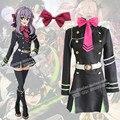 Anime Owari ningún Serafín De Finales Shinoa Hiiragi Cosplay Uniforme Traje Uniforme Militar