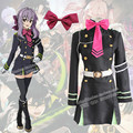 Anime Owari no Seraph Of The End Hiiragi Shinoa Cosplay Uniform Military Costume Uniform