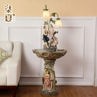 Seven European summer indoor water fountain water decoration room humidifier Home Furnishing creative lamp decorations