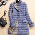 Warm Winter Slim Down Jacket Women Ultra Light Ultra-Light White Duck Down Jacket Womens Ultra Long Down Coats Plus Size YRH001