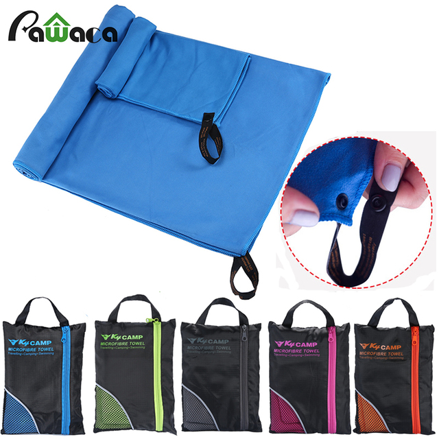 2PCS Larger Size Microfiber travel Sport towel Set soft quick dry Beach towels With Bag for Gym Swimming yoga travel Supplies