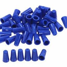 100 шт. P2 синий разъем провода твист-на крышка клемм пружинная вставка ассортимент 22-14 AWG