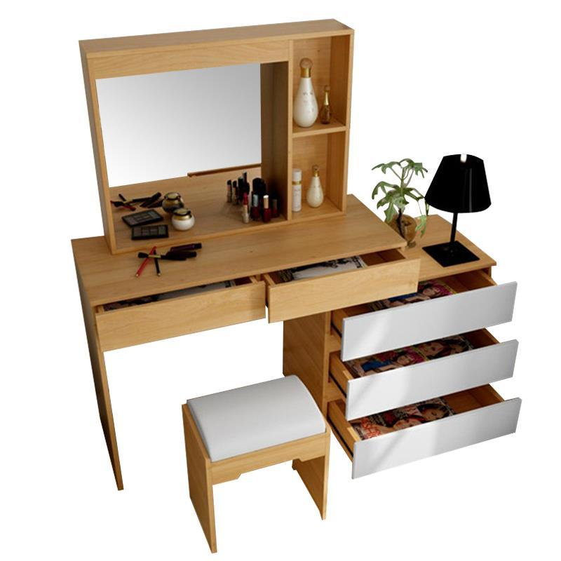 Nordic bedroom dresser color multi-purpose make-up small size modern minimalist flip top dressing table cut the nordic modern minimalist dresser bedroom flip multi functional dressing small apartment mini make up table