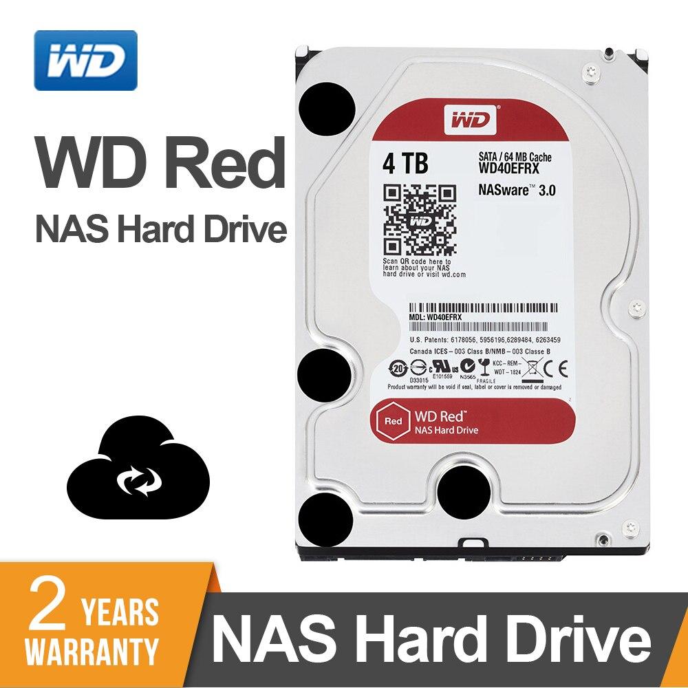 Western Digital WD Red NAS Hard Disk Drive 4TB 5400 RPM Class SATA 6 GB S