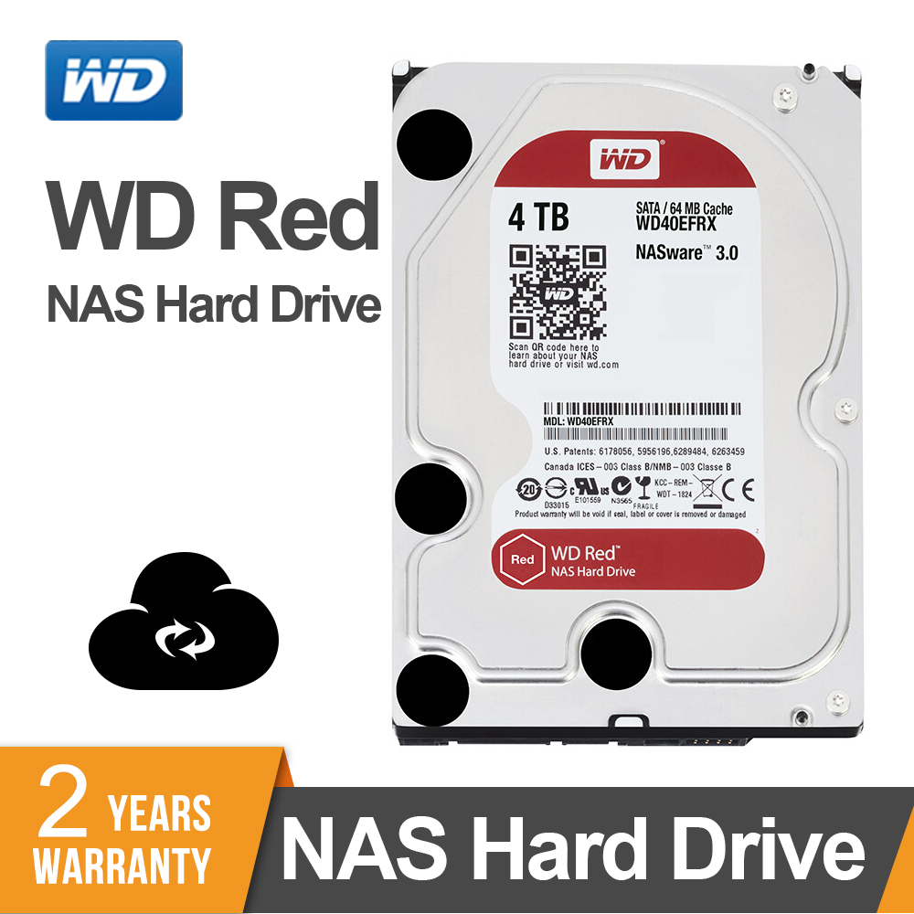 Western Digital WD Red NAS Hard Disk Drive 4TB - 5400 RPM Class SATA 6 GB/S 64 MB Cache 3.5-Inch for Decktop NasWestern Digital WD Red NAS Hard Disk Drive 4TB - 5400 RPM Class SATA 6 GB/S 64 MB Cache 3.5-Inch for Decktop Nas
