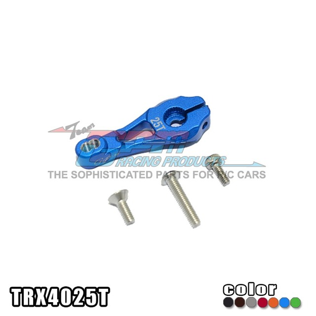 Free shipping TRAXXAS TRX-4 82056-4 Aluminum alloy servo horn 25T straight arm rudder arms with stainless stell screw TRX4025T