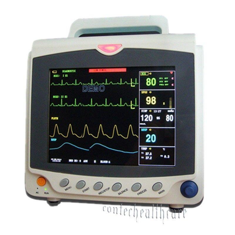 2016 équipement ICU Moniteur Patient Vital Sign avec ECG + PNI + SPO2 + PR 3a Garantie