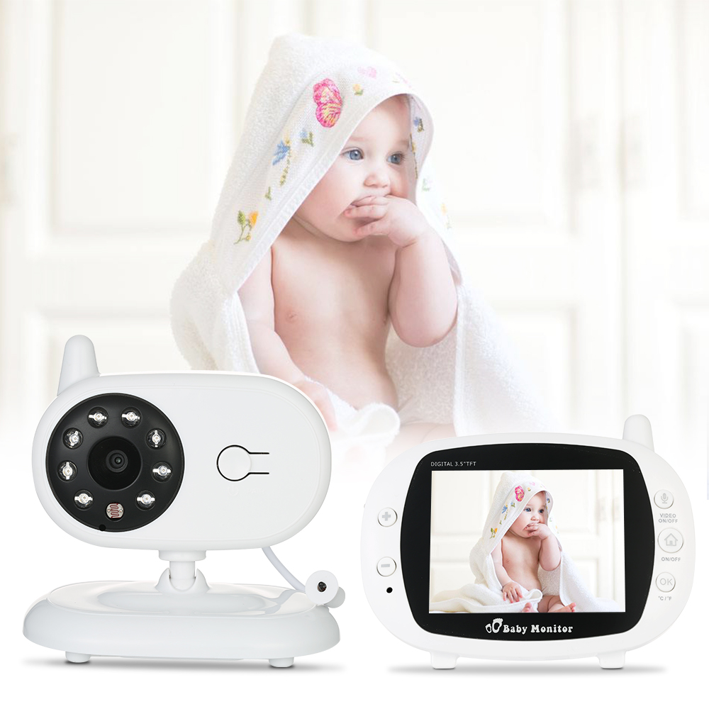 3 5 inch Wireless Baby Camera Video Baby Monitors with IR Nightvision Lullabies Intercom Video Babysitter