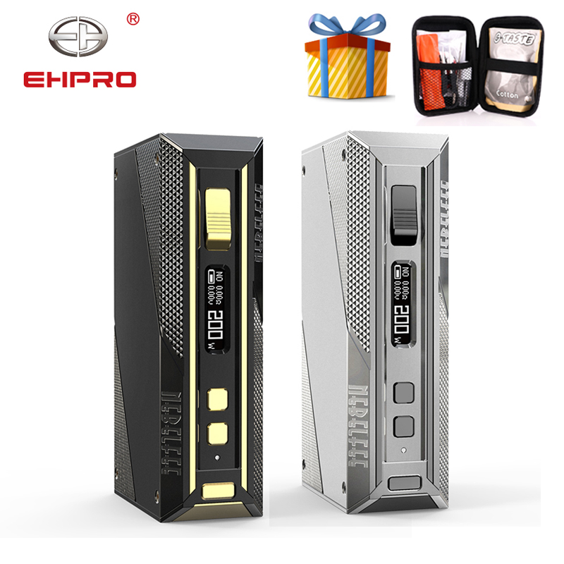 Free Gift Ehpro Cold Steel 200 TC Box MOD with 5-200W output By 18650 Battery Mod Box Vape Vaporizer vs Drag 2/ Aegis Solo Mod(China)