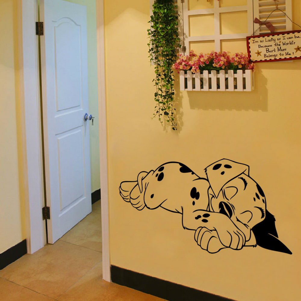 Cute Sleeping Dog Wall Sticker Home Decor Bedroom Removable Living ...