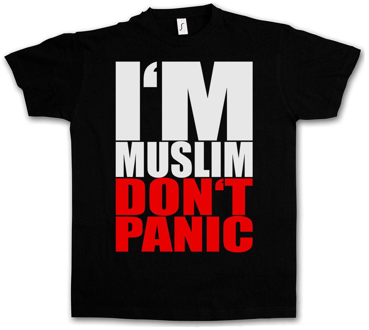 I AM MUSLIM DO NOT PANIC II T-SHIRT - Islam Moslem Religion Turkei Istanbul Allah