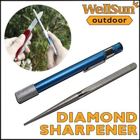 MOQ: 5pcs  Professional Diamond Grit Sharpener Pen-File Blade / Knife / Fish Hook /  Knife Sharpener For Camping #OT-012