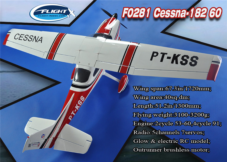 Cessna-182 Cessna 60 Class Red Nitro & Electric Fixed Wing RC Airplane Model все цены