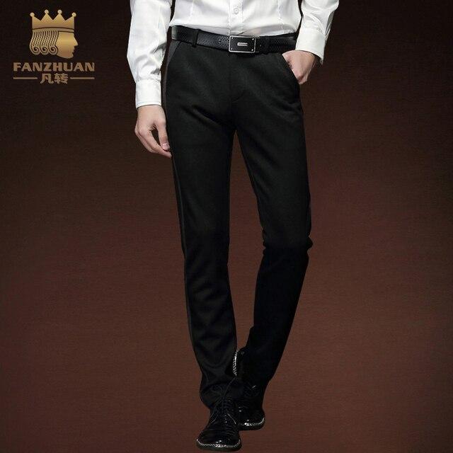 562821e5f € 37.6 20% de DESCUENTO|FANZHUAN marcas destacadas ropa Otoño e Invierno  Pantalones casuales de los hombres Pantalones rectos delgados pantalones ...