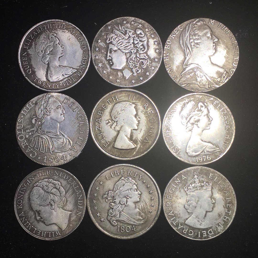 Rainha EUA Morgan Moedas de Rublo Moeda De Prata Liberdade Collectible Coleção Moedas Colecionáveis Ucrânia Venezuela Monedas Conjunto