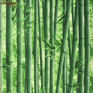 Image 1 - beibehang 3d bamboo wallpaper restaurant restaurant hotel entrance living room TV background wall papers home decor