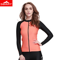 SBART Womens Long Sleeve Swimwear Rashguard Tops Windsurfing UV Protection Swimsuit Surfing drifting Snorkeling Wetsuit Jacket L