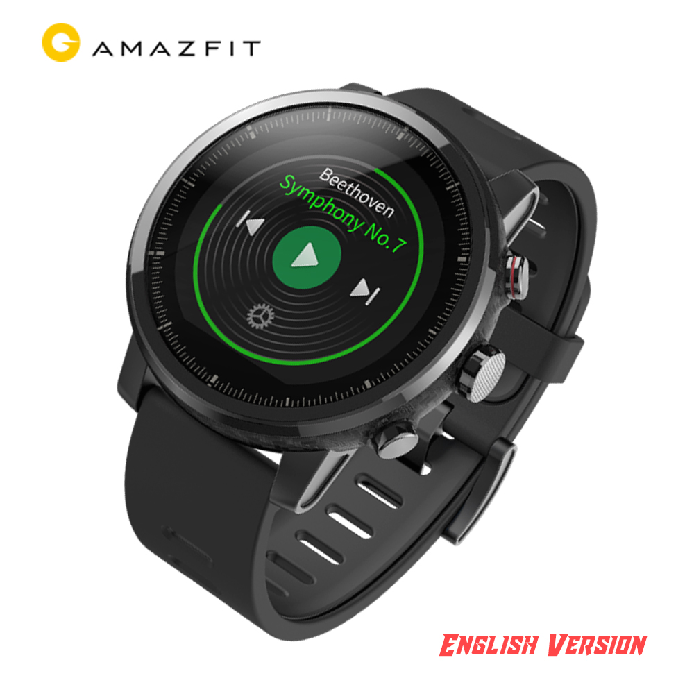 New Huami Amazfit 2 Amazfit Stratos Pace 2 Smart Watch with GPS Watches PPG Heart Rate Monitor Firstbeat VO2max 290mAh