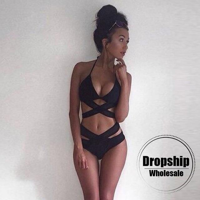Sexy 2018 Bikini Women Hot String Black Bikinis Set Strappy Push Up