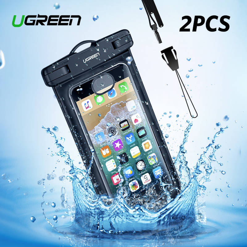 Ugreen Waterproof Case Bag Phone Pouch 6.3'' Phone Bag Case For iPhone Xs X 8 7 7Plus 6S 6Plus Samsung Galaxy S9 S8 Phone Case(China)