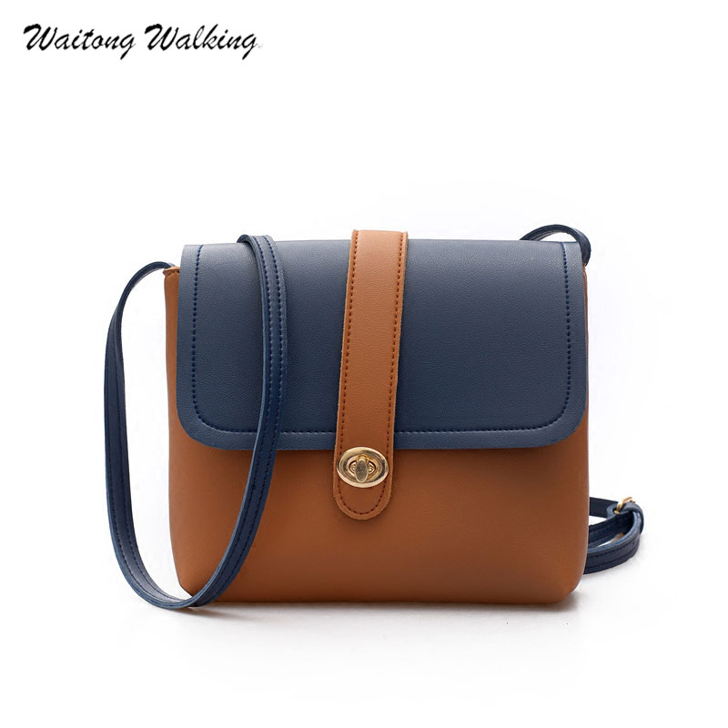 Women Bags Brand Designer Handbag Ladies Vintage Messenger Bags Leather Panelled Female Shoulder Bag Bolsa Feminina b181 new fashion women pu leather shoulder bags vintage tassel female messenger bag ladies handbag clutch bags bolsa feminina dec28