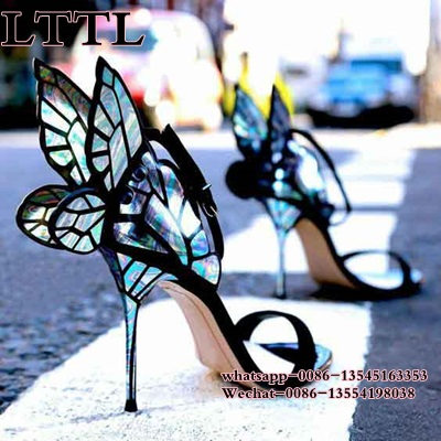 high quality Butterfly Wings Women High Heels Bowtie Summer Shoes Sandals Woman open toe Ankle Strap