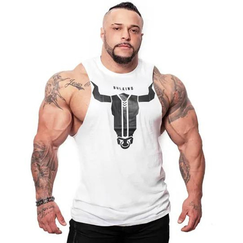 New Men Bodybuilding   Tank     top   Gyms Fitness Skinny Cotton Sleeveless Shirt Crossfit Clothing Male Stringer Singlet Undershirt