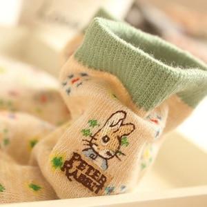 Image 1 - 10 pairs=1 lot Cute Cartoon Embroidery Stripe Peter Rabbit Tube Art Print Novelty Cotton 3D  Casual Japanese Socks MF748512