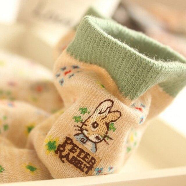 10 pairs=1 lot Cute Cartoon Embroidery Stripe Peter Rabbit Tube Art Print Novelty Cotton 3D  Casual Japanese Socks MF748512