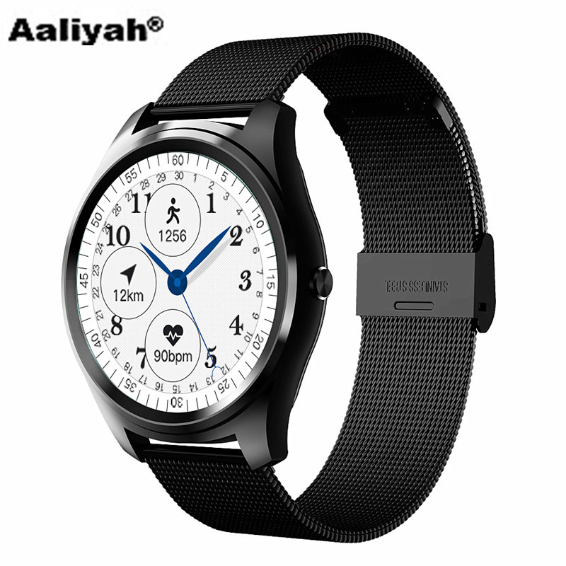 Smart Watch Clock Synchronizer Bluetooth 4.0 Connect Heart Rate Steps Sports Call Reminder Android iOS Fashion Men and Women
