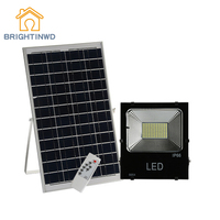 60/98/180LED Solar Light Outdoor Floodlight Super Bright With Remote Control Light Control Spotlight Street Wall Lamp Waterproof
