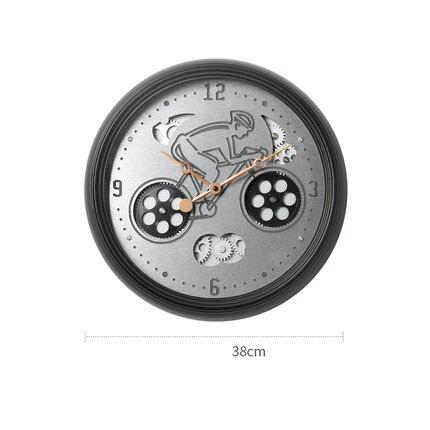 Mécanique Gear nordique horloge murale créative décorative horloge salon créatif électronique horloge suspendue décorations ornements
