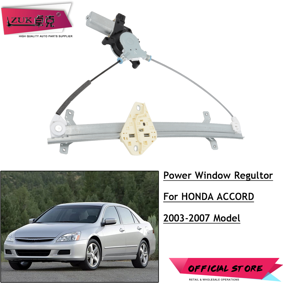 Power Window Regulator w//Motor Front LH Driver Side fit for 03-07 Honda Accord