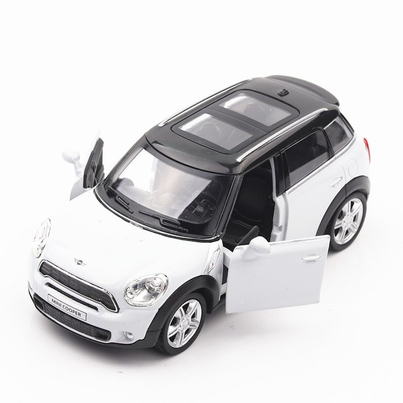1/36 DieCasts Series 5 Inch Mini Coop 12.5Cm Alloy Car Toys #Ch554001 2 Doors Openable Pull Back & Return Power