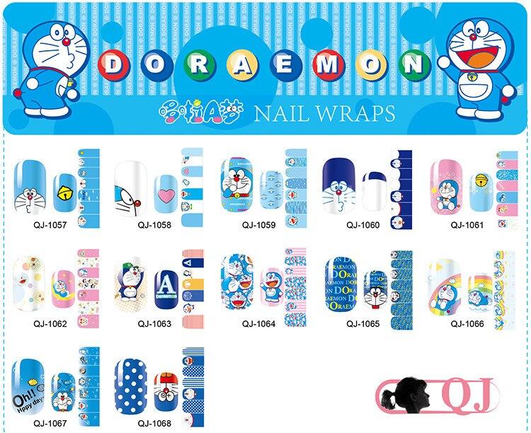 Cute Doraemon Nail Stickers Cartoon Japanese Stickers For Nail Art