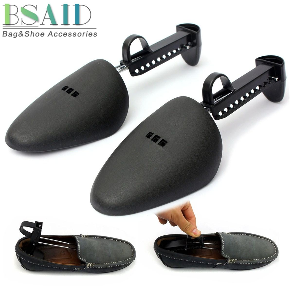 BSAID 1 Pair Shoe Stretcher Plastic Shoes Tree Shaper Rack Professional Adjustable Flats Boots Expander Trees Men