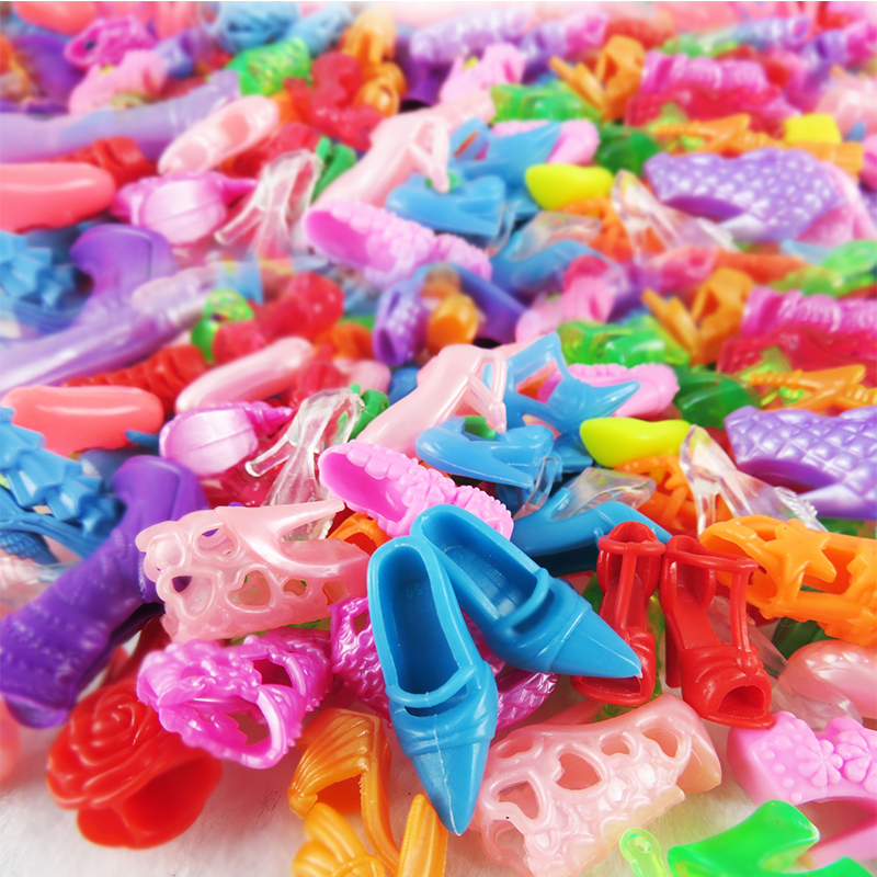 26-ItemPcs10-Pcs-Beautiful-Party-Barbie-Clothes-Fashion-Dress6-Plastic-Necklace10-Pair-Shoes-For-Barbie-Doll-Accessories-4