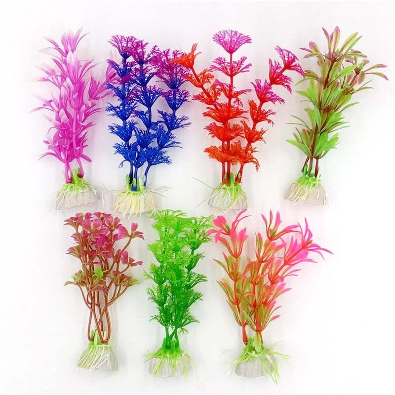 1pcs Simulation Artificial Plastic Aquarium Plants Wonder Grass Ornament Decor Landscape For Fish Tank Decoration