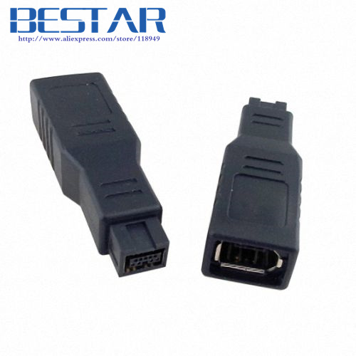 IEEE 1394 IEEE1394 6PIN Female to 1394b 9PIN male firewire 400 TO 800 adapter