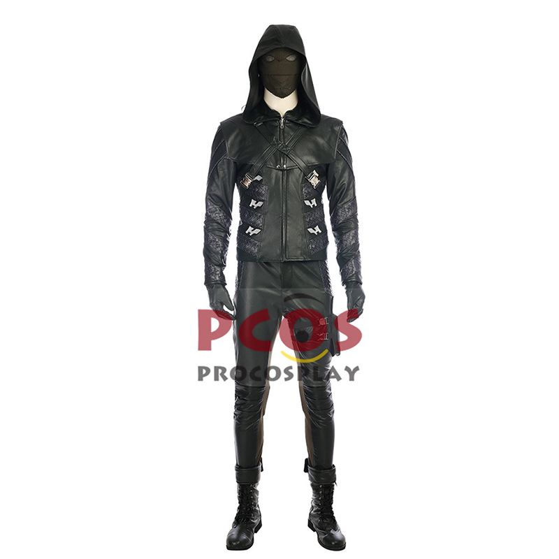 Green Arrow Season 5 Prometheus Cosplay Costume & Boots mp003686