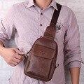 2017 homens de couro genuíno mensageiro sling peito dia back pack de marcas famosas crossbody sacos de ombro mensageiro saco ocasional novo macho