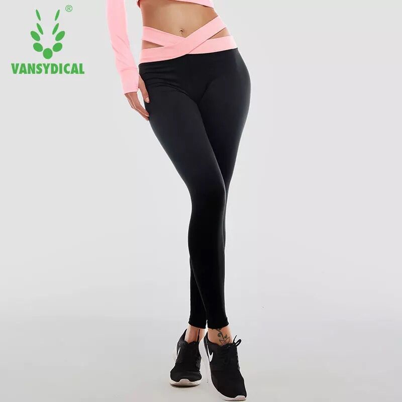 Women Yoga Pants Dry Fit Sexy Cross Belt Fitness Gym Pants Workout Training Running Tights Sports Leggings Female Trousers все цены