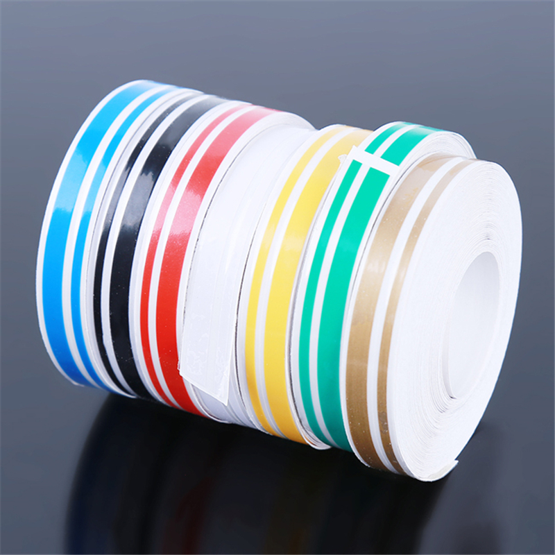 Pin Stripe Ribbon Sticker Bumper Car Body Stickers Multicolor Double Line Motorcycle Car Styling Decoration Accessories