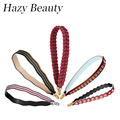 Hazy beauty  New real leather women handbag strap spike and flower design lady need fashion bag parts easy matching stripe DH132