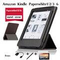 Para Amazon Kindle Paperwhite1/2/3 leitor de e-book caso coldre de Couro de alta qualidade shell protective folio capa Magnética caso