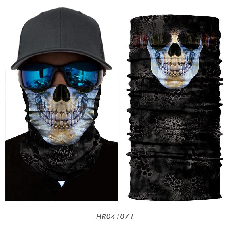 Multifonctions écharpe tube de microfibre modèle skull face