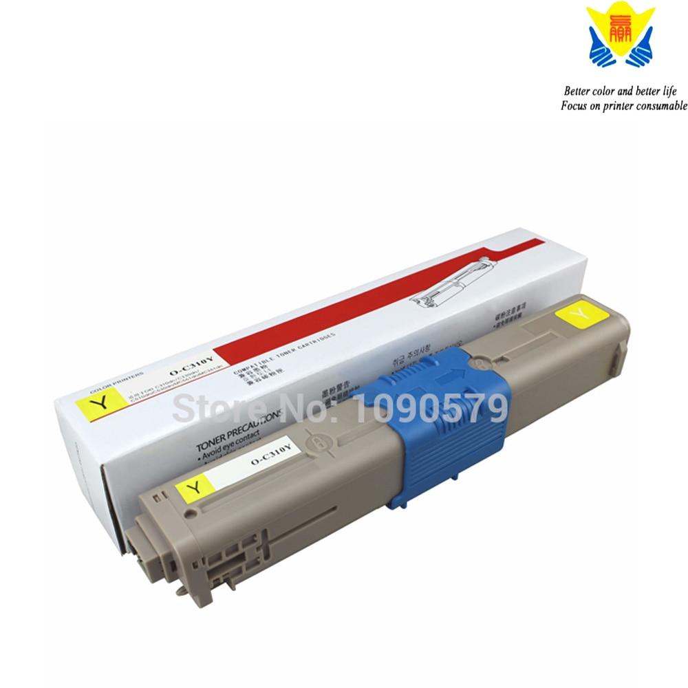 8pk C310 Laser Toner For Oki Okidata C310dn C330dn C510dn C530dn MC351dn MC361dn
