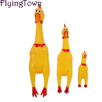 41cm Funny Vent Long Neck Chicken Medium Shrilling Sound Squeeze Screaming Toys Children Baby Toy