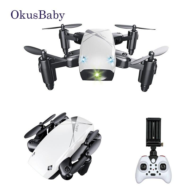 2019 Marka Yeni Mini Drone Kamera HD S9 Ile Hiçbir Kamera Katlanabilir rc dört pervaneli helikopter Irtifa Tutun Helikopter WiFi FPV Mikro Cep dro